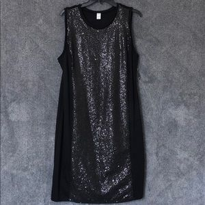 NWT Black Sequin Panel Dress